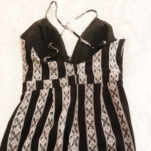Other - Black and white pattern jumpsuit
